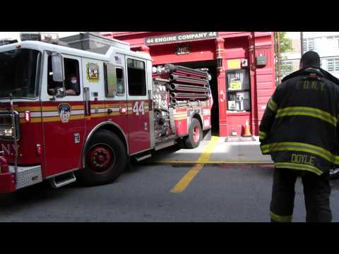 FDNY Engine 44 responds to an odor of gas