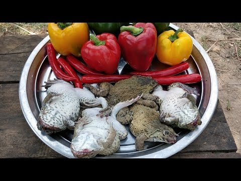 Bell Pepper Frog Recipe / Cooking Frog With Bell Pepper