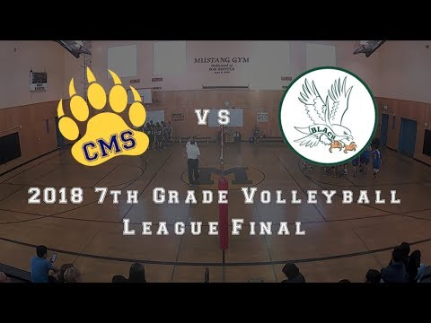 2018-02-01 Cupertino MS 7th Grade VB Final vs Blach