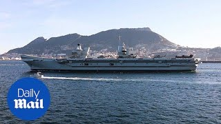 HMS Elizabeth arrives in Gibraltar for first overseas trip - Daily Mail