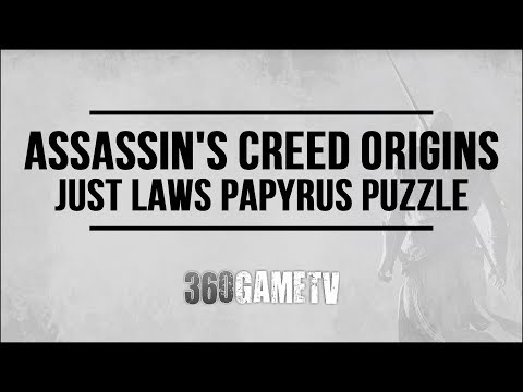 Assassins Creed Origins Just Laws Papyrus Puzzle - How to solve Faiyum Oasis Papyrus Puzzle