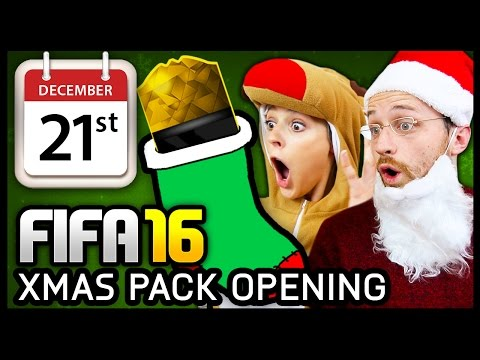 XMAS ADVENT CALENDAR PACK OPENING #21 - FIFA 16 ULTIMATE TEAM