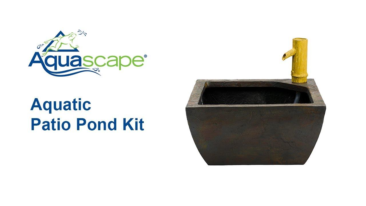 Aquascape Aquatic Patio Pond Kit   How To