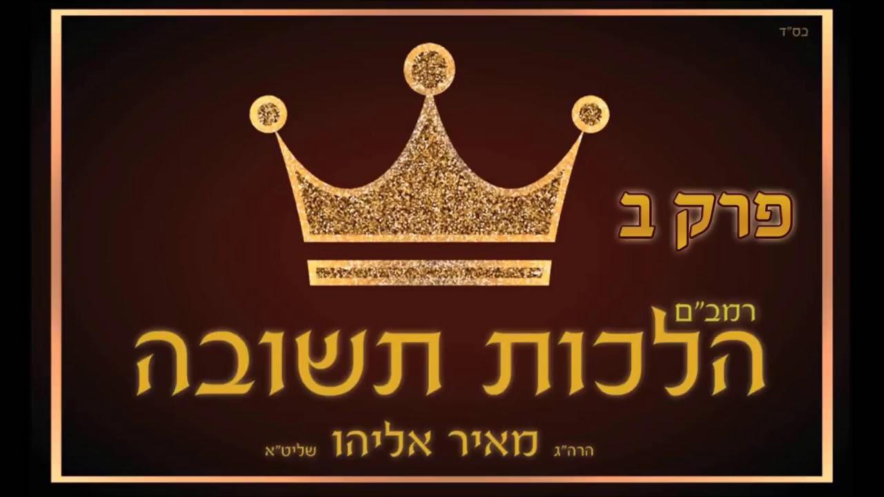 הרב מאיר אליהו   הלכות תשובה פרק ב׳
