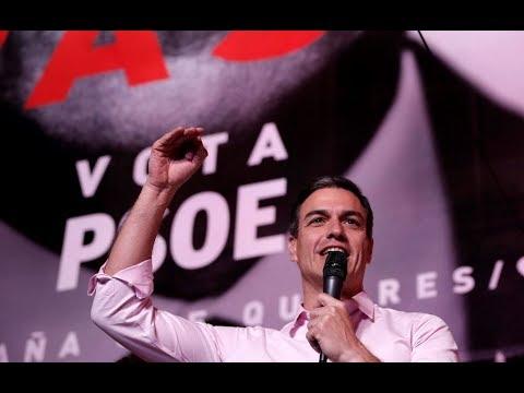 فوز الاشتراكي سانشيز بانتخابات إسبانيا
