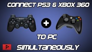[How To] Connect Multiple PS3 and Xbox 360 Controllers in Windows 10 Tutorial (Wired or Wireless)