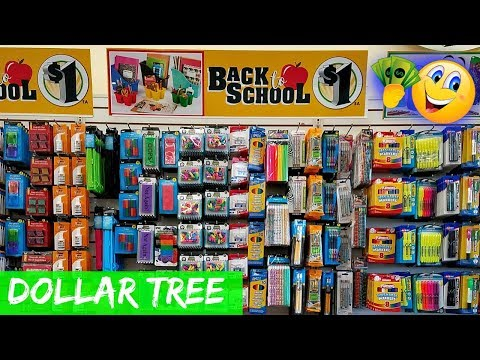 SHOP WITH ME DOLLAR TREE  BACK TO SCHOOL SUPPLIES JULY 2018
