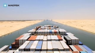 Timelapse of sailing down the Suez Canal