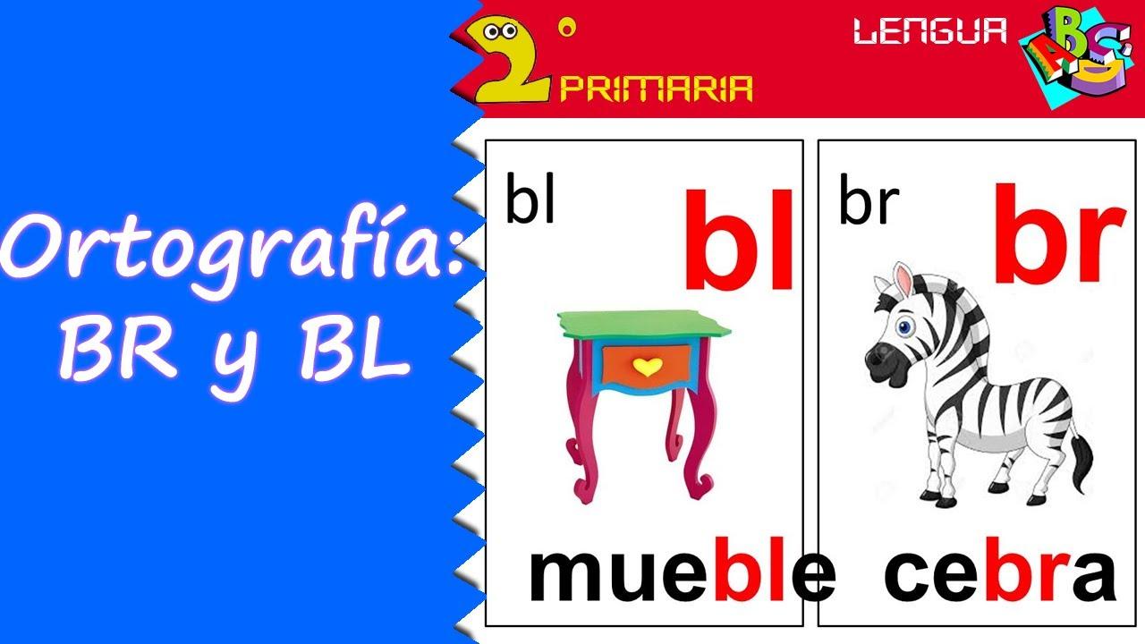 Dibujos Con La Trabada Br: Lengua, 2º Primaria. Tema 12. Ortografía: Br Y Bl