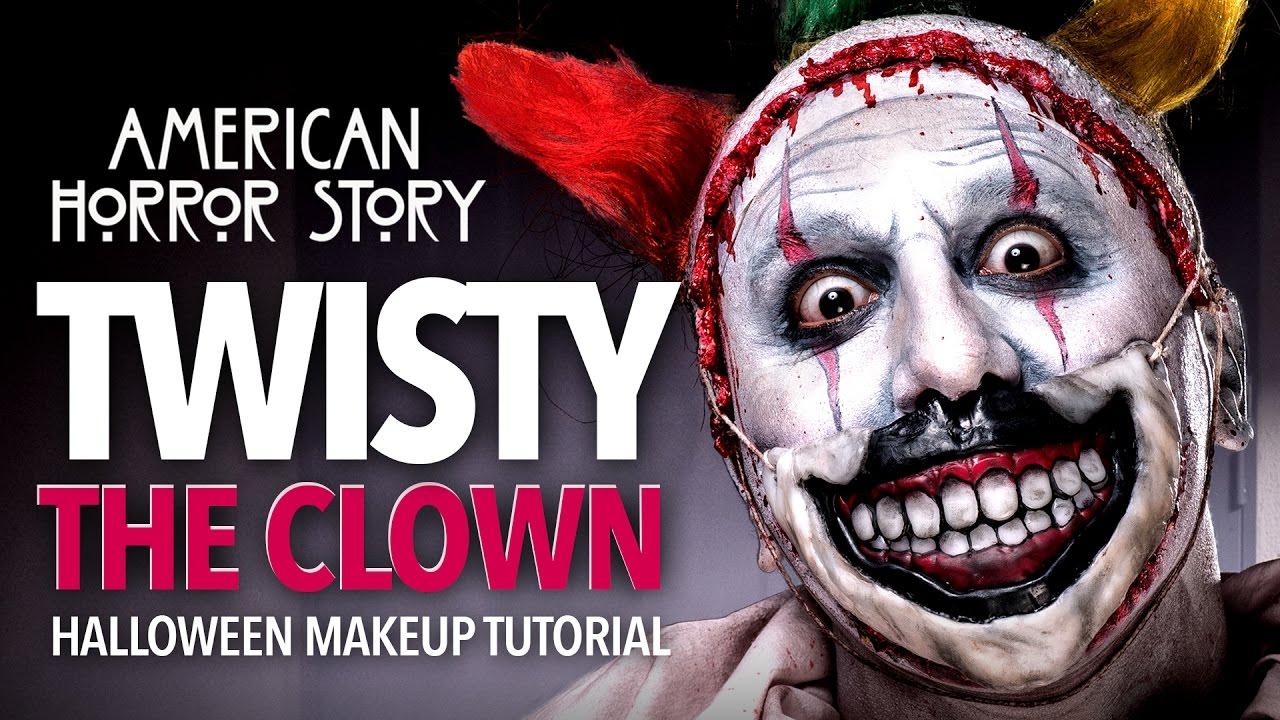 Twisty The Clown Halloween Makeup Tutorial (AHS) - YouTube