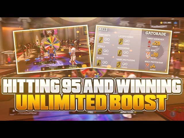 OMG I HIT 95 OVERALL AND WON UNLIMITED BOOST *MUST SEE*