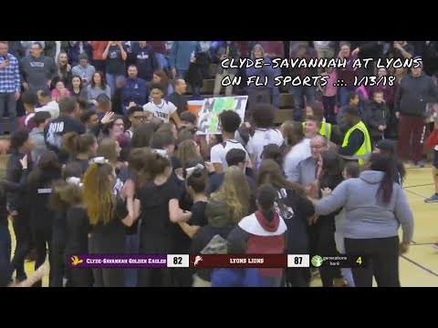 Clyde-Savannah Golden Eagles vs. Lyons Lions .::. FL1 Sports 1/13/18