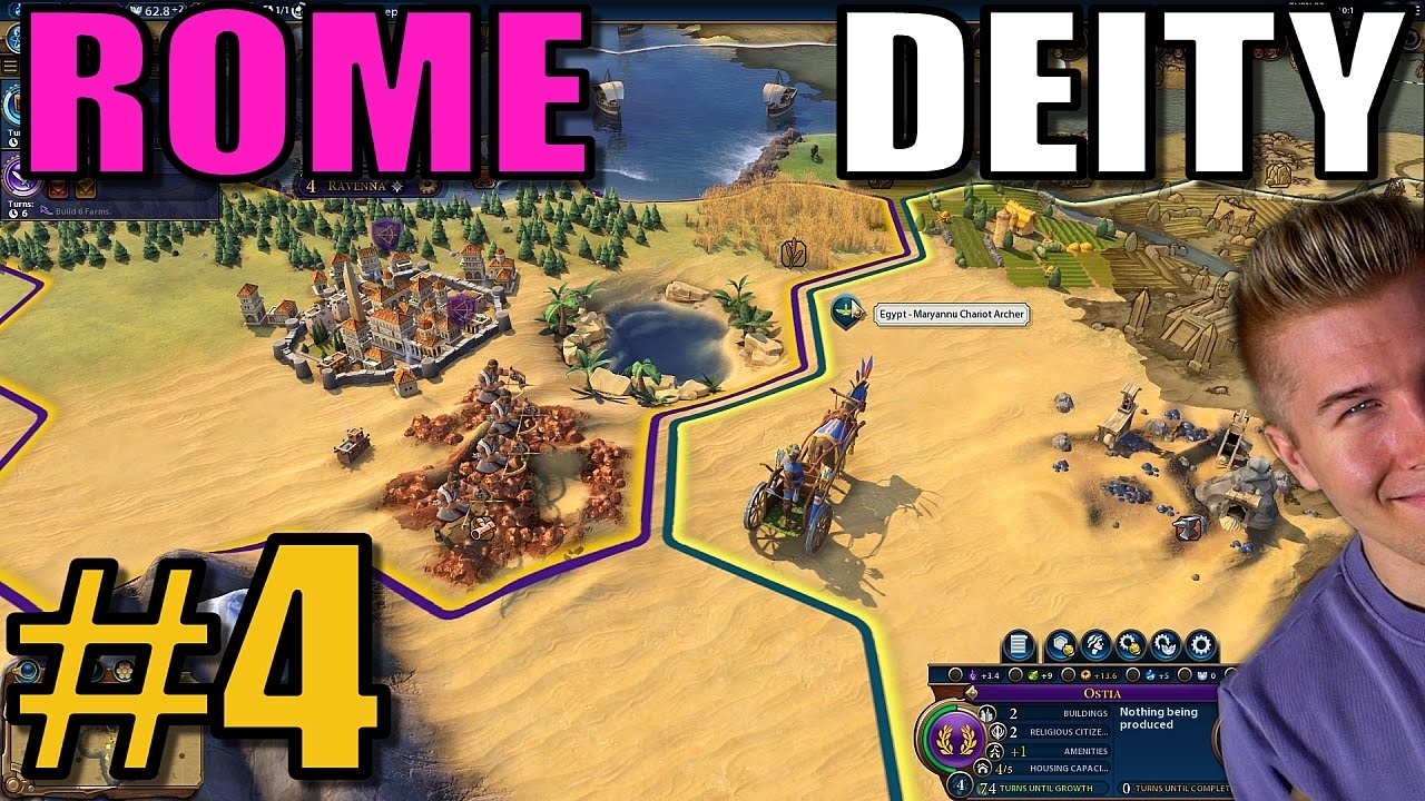 Civ 4 Earth Map.Civilization 6 Rome Deity Tsl Earth Map W 16 Civs Part 4 Civ 6