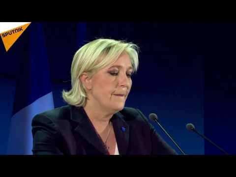La soirée électorale de Marine Le Pen à Hénin-Beaumont