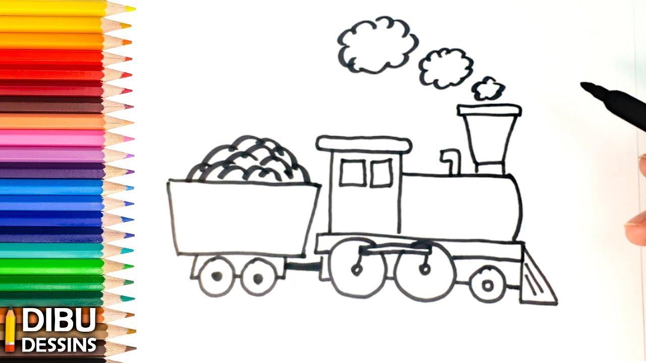 Comment Dessiner Un Train Etape Par Etape Youtube
