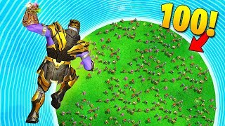 THANOS vs. 100 PLAYERS! - Fortnite Fails \u0026 Epic Wins #58 (Fortnite Funny Moments)