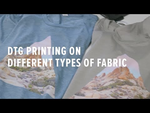 30195b0f DTG (Direct-to-Garment) Printing on Different Types of Fabric - YouTube