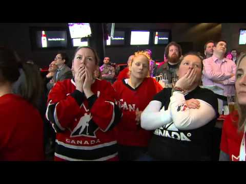 RAW VIDEO: Toronto fans react to Team Canada women's hockey gold-medal win