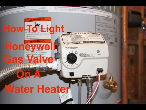 How To Light AO Smith Water Heater With Honeywell Gas Valve