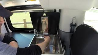 Sink & Window operation- Recon Campers Nissan NV200/ Chevy City Express Camper Van