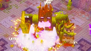 Fighting The New Boss At Level 198 In Minecraft Dungeons