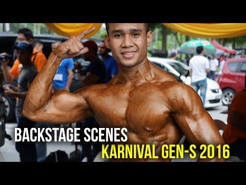 MR KARNIVAL GEN-S 2016: Backstage Scenes (Bodybuilding & Aesthetics)