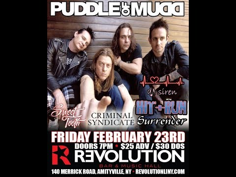 Puddle of Mudd - Amityville, NY- February 23, 2018 - USA edit...missing half of Drift & Die...