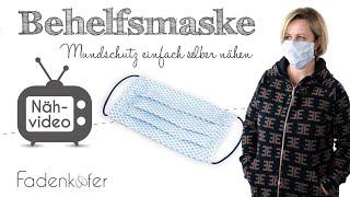 DIY Mundschutz, Behelfsmaske, Staubmaske selber nähen