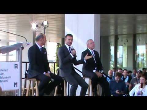 David Beckham brings MLS soccer to Miami (Full announcement) Part 1