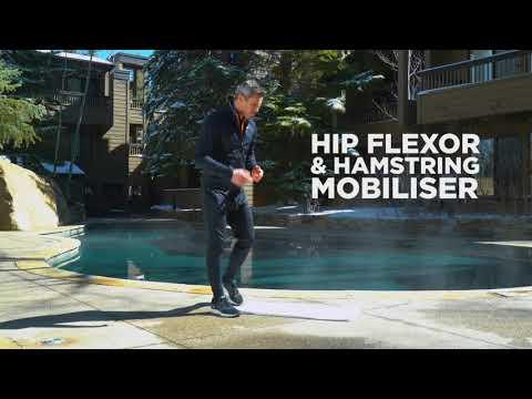 Matt Roberts hip flexor and hamstring mobiliser for Family Traveller