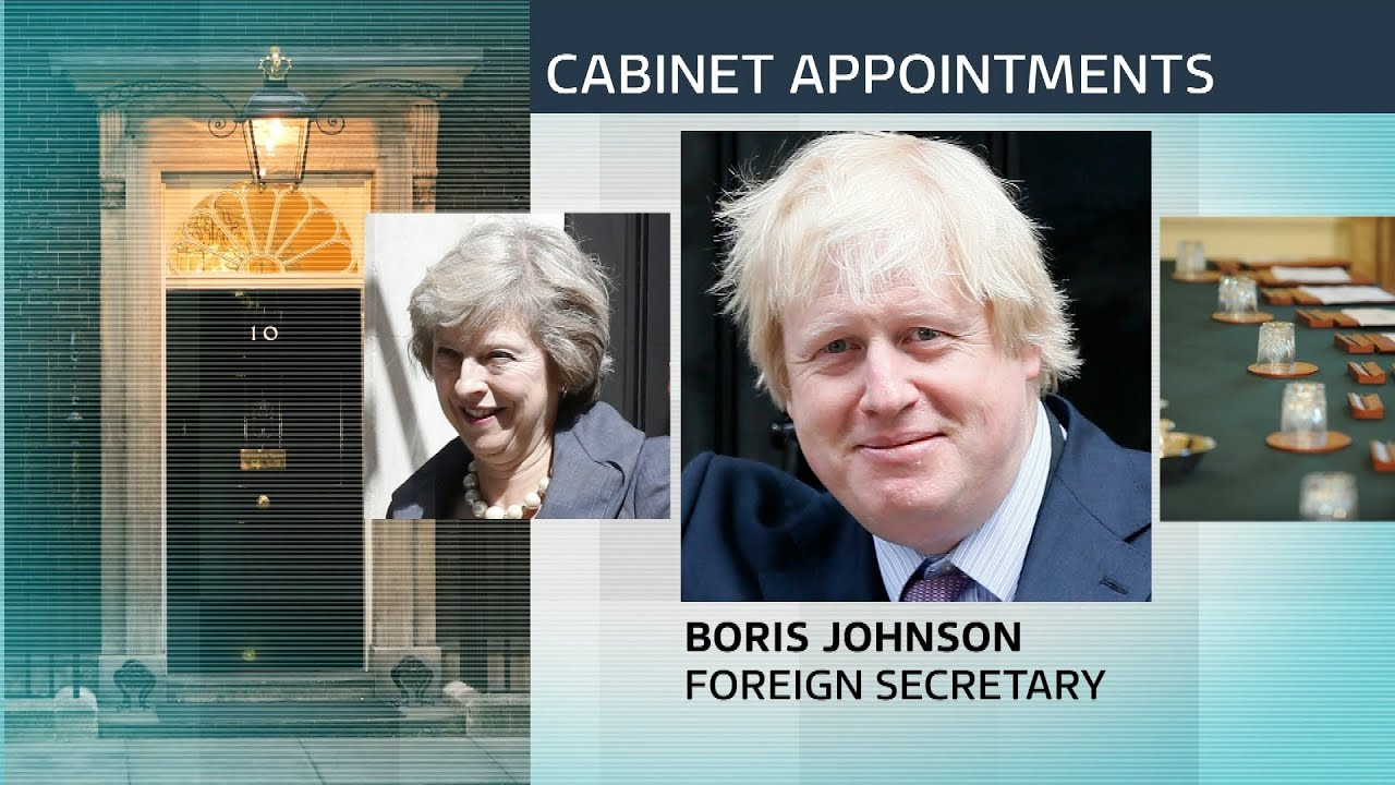 Theresa May names top cabinet positions after becoming PM - YouTube