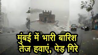 Tauktae cyclone : Mumbai समेत Maharashtra में तेज हवा से पेड़ गिरे, भारी बारिश भी