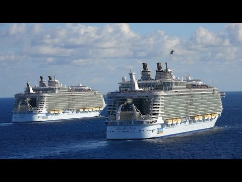Harmony of the Seas: Three Sisters Meeting (with Oasis and Allure)
