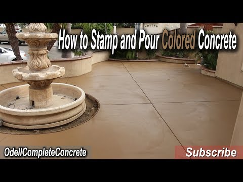 How to Stamp and Pour a Colored Concrete Patio! Belgium slate