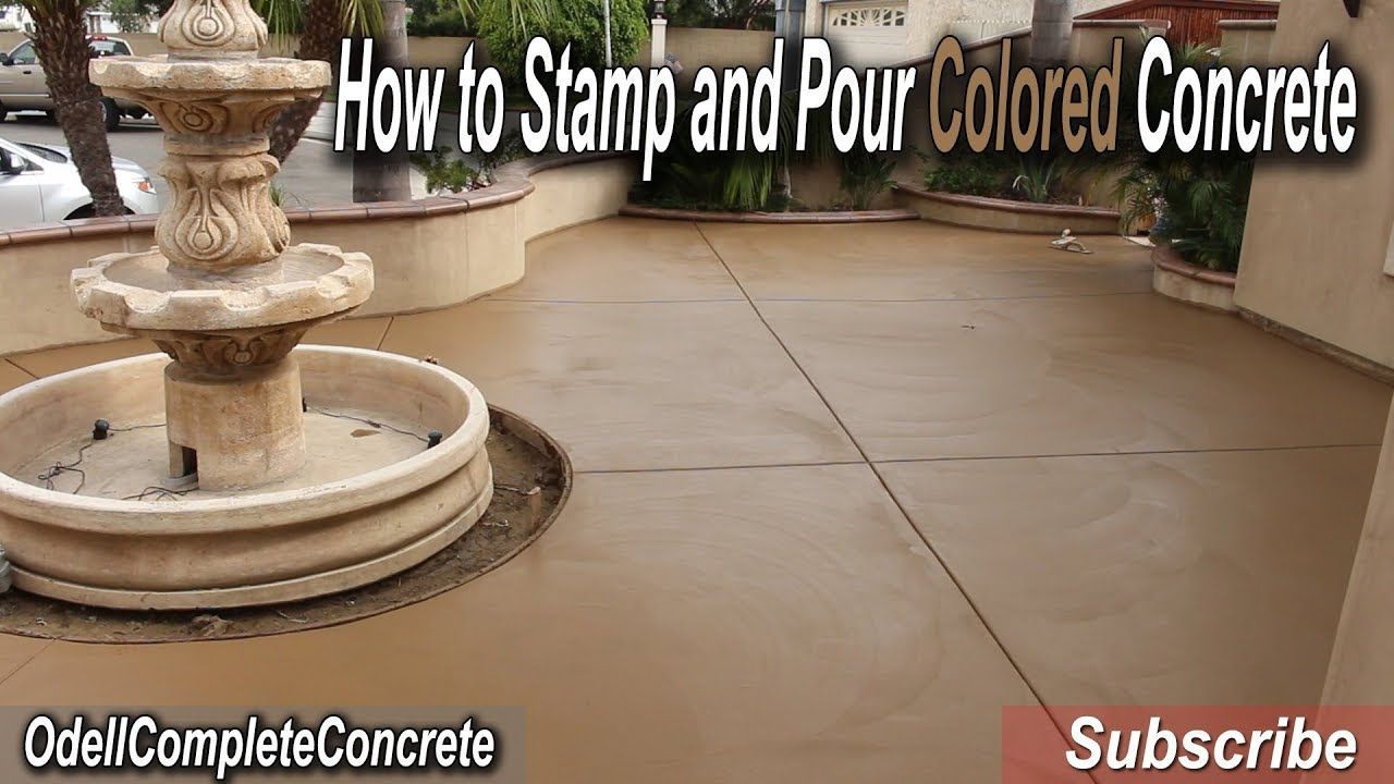 how to stamp and pour a colored concrete patio belgium slate