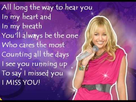 Hannah Montana - Been Here All Along (Lyrics)