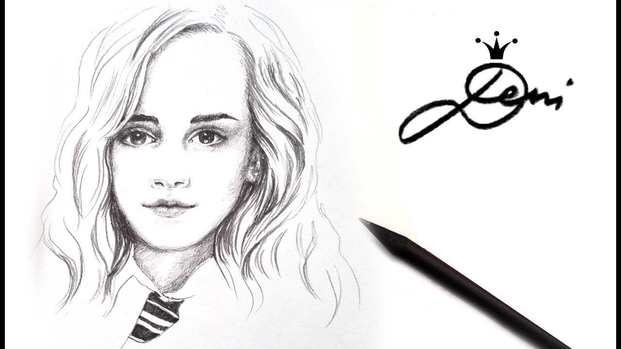 hermine granger zeichnen (mädchen, gesicht, test) how to draw a face