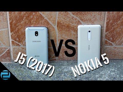 Nokia 5 és Samsung Galaxy J5 (2017) összehasonlítás