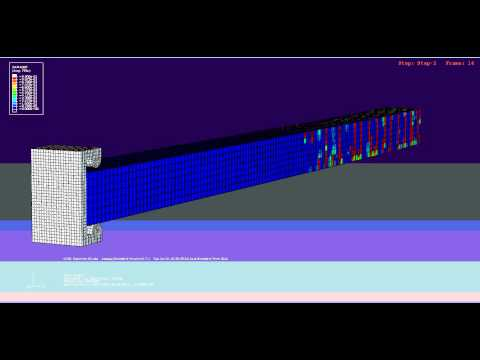 RC Cantilever Under Cyclic Load in Abaqus