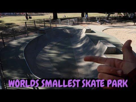 WORLDS SMALLEST SKATE PARK!?!
