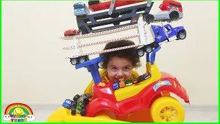 Oyuncak Arabalardan Kule Yaptık | Yıkılırsa, Kaybedersin!