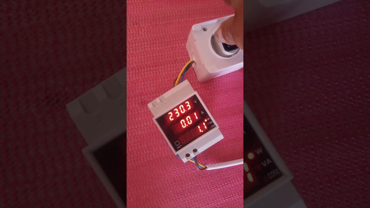 Elecall D52 2048 Ac Voltmeter Ammeter Power Meter Youtube Cr7 Green