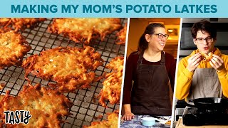 My Mom Teaches Me How To Make Our Family's Potato Latke Recipe Tasty