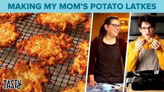 My Mom Teaches Me How To Make Our Family's Potato Latke Recipe Tasty