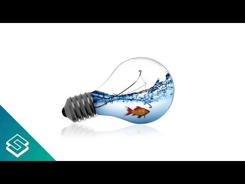 GIMP For Beginners: Light Bulb Fish Bowl Tutorial