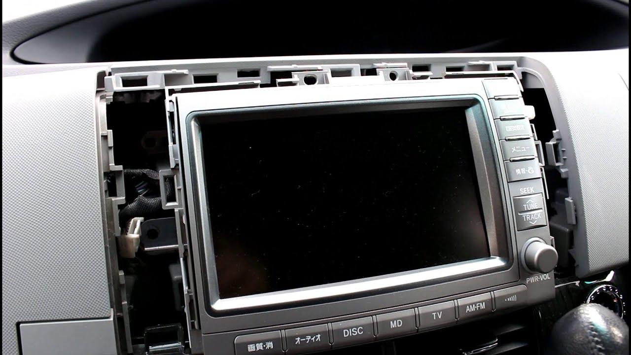 toyota estima aeras tv screen head unit removal [ 1280 x 720 Pixel ]