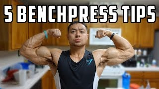5 Benchpress Tips to Increase 1 RM