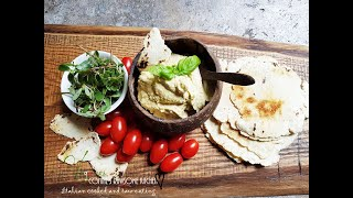 CREATING A BEAUTIFUL CUTTING BOARD AND VEGAN OIL-FREE HUMMUS | Connie's RAWsome kitchen