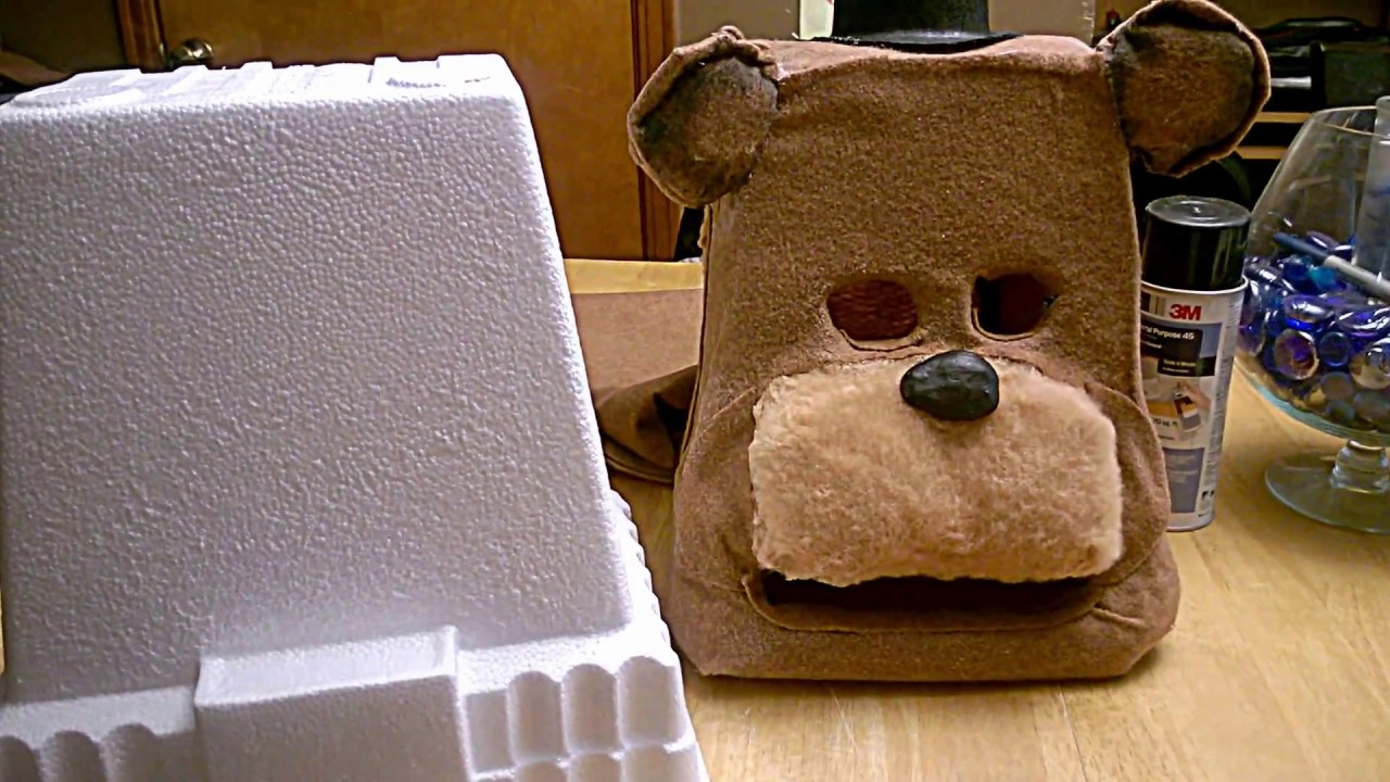 Simple Freddy Fazbear Costume Cosplay Head Mask PART 1