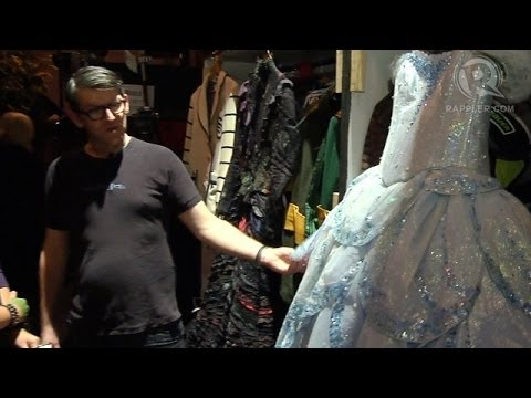Backstage for Wicked: Witch costumes, hair and make-up